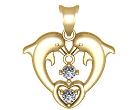 dolphin jewelry 3D printable model