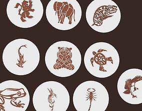 3D model Tribal animals