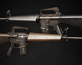 M16A1 3D model game-ready