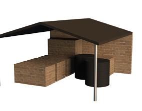3D asset Storage Shed