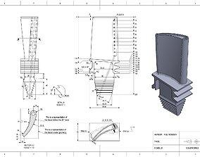 Turbine blade 3D printable model