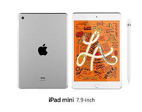 3D model iPad Mini 7 9-inch Silver