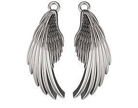 3D printable model Wing Design Earrings