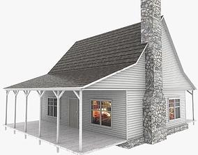 American house 3D asset