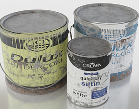 Old Paint Tins - Low-poly PRB 3D model