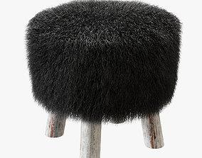 Sheepskin stool 3D