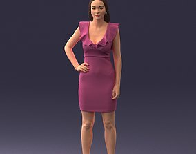 3d scan of a woman in dress glam