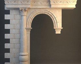3D Stone Column Arch