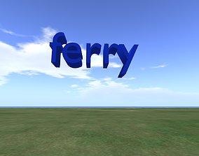 3D word ferry