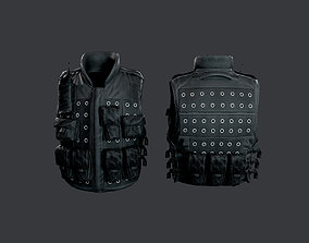 3D model SWAT Police Military Vest Game Ready