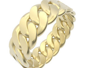 3D print model Chain Link Ring - UK Size V - 8mm