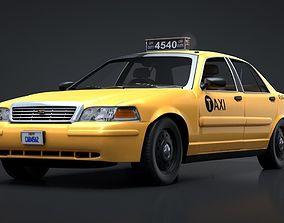 3D model City Taxi Rigged C4D