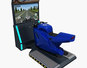 3D model Moto Arcade Machine