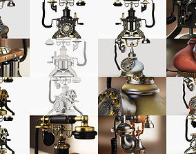 Vintage Phones Pack 3D model
