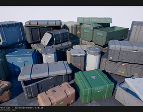 SciFi Crates Pack 1 Unity UE4 Low Poly Game Ready 3D asset