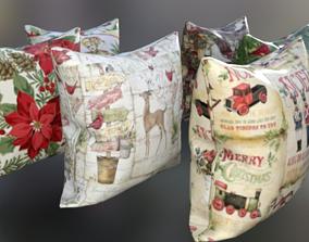 Pillows Xmas - Decor Christmas day 3D asset realtime