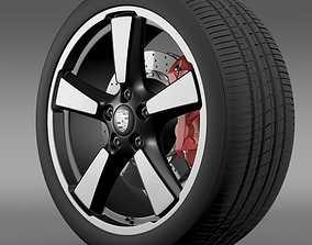 3D Porsche 911 50YearEditions wheel