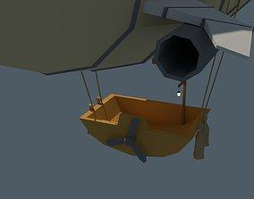 3D asset Low Poly Zeppelin