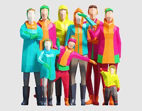 3D model Winter People