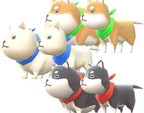 3D model Lowpoly Animal Cartoon - Dog