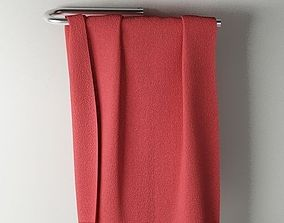3D model Towel 03 red
