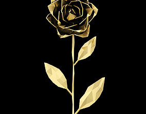 3D model Abstract Golden Rose