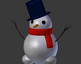 3D model Snow Man
