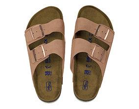 Birkenstock Women Arizona Suede Double Buckle Sandals 3D