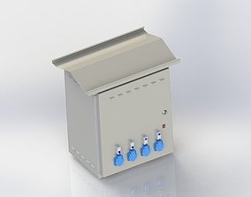 3D model Solar energy electric cabinet