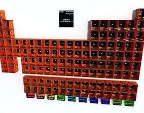 Periodic table of elements Mendeley 3D model realtime