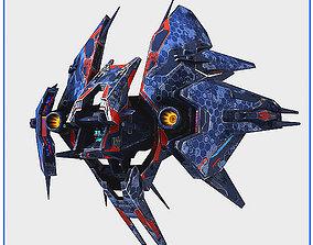 3D model Low Poly Alien Fighter