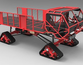 3D model 4x4 Truck with Mattracks Suspension tracks