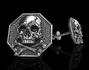 3D print model skull earrings studs 3dprint old