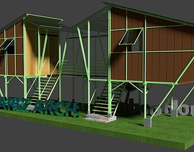 3D Bamboo House first-model-february