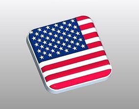 Flag of USA Button Shape 3D printable model