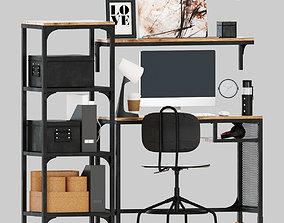 3D model IKEA fjallbo working table set