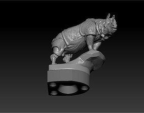 RHINO figurine on the hood of car 3D print