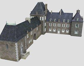 3D model French XVIIIth century manor