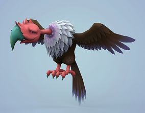Fantasy Cartoon Vulture 3D asset