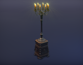 Chandelier floor standing Low-poly 3D model game-ready