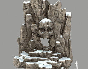 snow skull cave 3D model low-poly plant