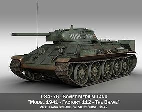 T-34-76 - Model 1942 - Soviet tank - The Brave