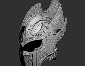 Zbrush Elf fantasy helmet 3D