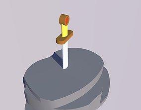 Excalibeur Minimale medieval 3D print model
