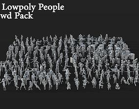 3D model 265 People Crowd Pack Set-07
