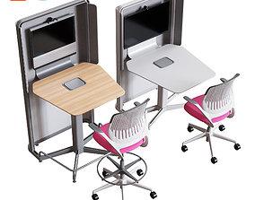 3D Steelcase - Media Scape Kiosk