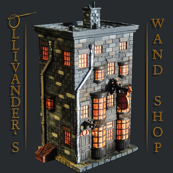 Ollivander's Wand Shop 3D Print Model - Harry Potter