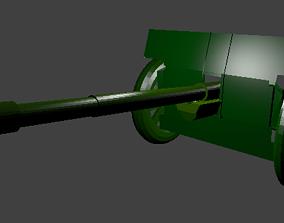 military cannon 3D asset