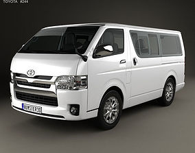 3D Toyota Hiace LWB Combi with HQ interior 2013 h200