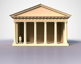 3D asset Roman Doric Temple 1